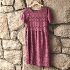 Size small Roolee mauve dusty pink dress